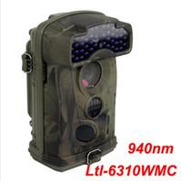 ingrosso telecamere gommose-Nuovo Ltl Acorn 6310WMC HD 1080P 100 gradi grandangolare 12MP Scouting Caccia Telecamera da gioco Records Sound Blue 940nm