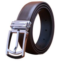 Wholesale Leather Cowhide Strap Wholesale - Wholesale- 2016 Fashion Mens Belts Male Genuine Leather Strap Double Faced Cowhide Belt Belts For Business Men High Quality Luxury Belts