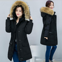 Wholesale Real Fur Collar Sale - Winter hot sale new Canada Down Jacket Parkas for Women Ladies Women Coats Hood Parka women jackets Real Fur Collar Long Style Overcoat