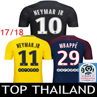 675ac7468 2017 2018 Soccer Jerseys NEYMAR JR DANI ALVES MBAPPE 17 18 CAVANI Football  Shirt VERRATTI Third Black DI MARIA Survetement Maillot 2XL 3XL ...