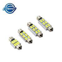 Wholesale Led Bulb Mm - Car c5w 31 36 39 42 mm Festoon CANBUS LED Dome 4 6 SMD 5050 no Error License plate Reading Interior Light Bulb White DC12-24V