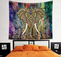Wholesale FBA Custom Logo Drop Shipping cm Bohemian Mandala Beach Tapestry Hippie Throw Yoga Mat Towel Indian Elephant Peacock Polyester