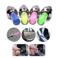 Wholesale Led Rims Car - Car Motorcycle Bike Bicycle Wheel Tire Valve Cap Neon LED Lights Safety Lamp LED Flash Rim Light