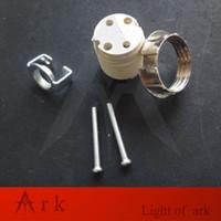 g9 lamba soketi toptan satış-10 adet Seramik m10 ile G9 Lamba Boncuk Duy Tutucu braketi G9 LED Kristal Lamba Tutucu halojen Blok Bankası Soket