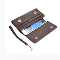 Wholesale Holster Belt Clip Wallet Flip - Luxury Universal Holster Belt Clip Waist Man Flip PU Leather Wallet Cover Bag Phone Case For iPhone 6 6S 7 Plus Samsung Galaxy S7 S6 S5