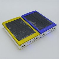 Wholesale Solar Powered Phone Charger Case - Metal case solar power bank 20000mah battery externa solar charger powerbank for mobile phone for pad Mobile phone charging