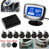 Wholesale Monitor Rear View Reverse Sensors - SALE! Weatherproof 8 Rear Front View Car Parking Sensors Reverse Backup Radar Kit System with LCD Display Monitor CAL_215