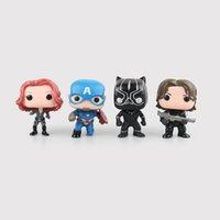 Wholesale Q Kid - New hot sale Q FUNKO POP Civil War Captain America Black widow winter soldier black panther 10CM gift for children