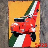 Wholesale 20 vintage painting kinds of electric cars Tin Signs Wall Painting Art Wall Stickers Crafts Cafe Bar Bar Home Decoration