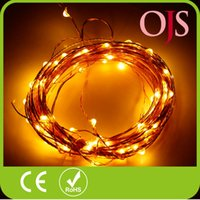 Venda por atacado - Frete grátis 10M 100led Copper Wire LED String Christmas Fairy Lights Garland Cold White Warm White