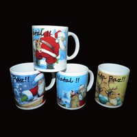 Wholesale Christmas Mugs Cups Wholesale - (48 piece) wholesale Color changing cup   Christmas ceramic cup, Christmas mug, Santa Claus snowman creative gift ceramic mug wholesale no01