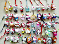 Wholesale lovely Hellokitty Cell Mobile Phone bag charms straps