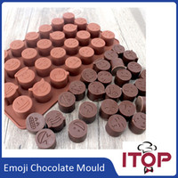 Wholesale Silicone Cake Moulds Wholesale - Emoji Funny Face DIY Silicone QQ wechat Cake Chocolate Sugar Candy Baking Mould