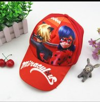 Wholesale Ladybug Winter Kids Hats - Kids Favors Lovely ladybug Cartoon Theme Hats Happy Birthday Party Baby Shower Caps Decoration Events Supplies