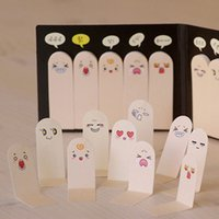 Vente en gros - 200 pages Kawaii Unique Scrapbooking Dix Dents Sticker Bookmark Tab Flags Memo Book Marker Sticky Notes