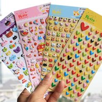1pcs Amore cuore / animali / frutta 3D Bubble Stickers Scrapbook Notebook decorazione fai da te a mano Sticker Gift Card regalo per bambini