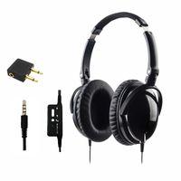 Wholesale Headphones Active Noise - Brand New Active Noise Cancelling Headphones With Mic Foldable Over Ear HiFi Noise isolation Headset Earphone Auriculares