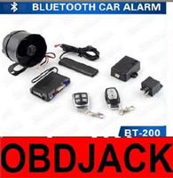 Wholesale Trunk Release Car Alarm System - 2017 Newest Arrival Vehicle Car Alarm System Bluetooth PKE Car Alarm Trunk Release Arming Phone App Control Car Alarm System