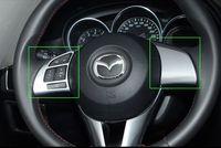Wholesale Mazda Wheel Trims - 2pcs lot Steering Wheel Decoration Trim Garnish Cover Interior Metal Sticker High Quality For Mazda 12 13 CX-5 CX5 2012 2013