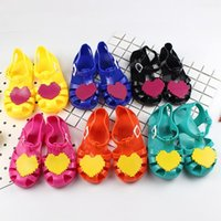Wholesale Cheap Glass Shoes - Latest Design Cheap Price Little Children Jelly Sandals Kids Soft Bottom PVC Jelly Sandals Girl Glass Jelly Shoes