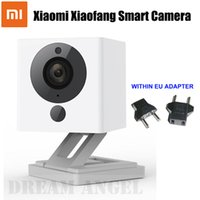 Wholesale Smallest Flash Memory - IN STOCK Xiaomi XiaoFang 110 Deg F2.0 8X Digital Zoom Night Vision WiFi IP Smart 1080P Camera Xiaomi Little Small Square Camera