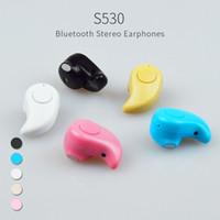 Wholesale Earphone Wireless Hidden Cell Phone - Buy 10 get one free earphone wireless sport stereo hidden invisible in-ear S530 earphone super mini headphone earphone earpiece