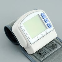 Wholesale Wholesale Wrist Blood Pressure Monitor - Automatic Digital Wrist Blood Pressure monitor and Pulse Monitor Sphygmomanometer Portable Blood Pressure Monitor Free Shipping Health Care
