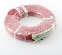 Wholesale meter High Quality wire silicone AWG red and black