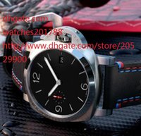 Wholesale New Gent - HOT New Luxury TOP Brand 1950 PAM00727 pam727 Automatic Mechanical Mne's Watch Black dial black Leather strap Gents Watches Fashion Watch