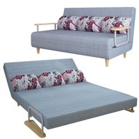 space saving sofas - New Folding Sofa Bed Design Space Saving Wooden Frame European Style Leather Sofa Bed F01D3 cm