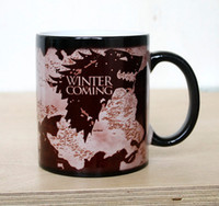 Wholesale Magical Mugs - Game Of Thrones Color Cup Creative Fashion Thermal Reaction Temperature Sensing Mugs High Quality Magical Festival Gift 13yo R