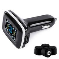 Wholesale One Digital Monitor - Wirelss Car Tire Pressure Alarm Professional TPMS 4 External Sensor Temperature Auto Smart Digital Alarm Monitoring System