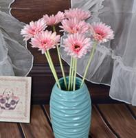 ingrosso piano vasi fiori artificiali-Calliopsi di cerimonia nuziale del pavimento del fiore di seta artificiale del nuovo fiore di progettazione per le forniture per feste Vaso decorativo della bottiglia del vaso del crisantemo
