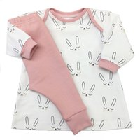 Wholesale Cute Girl Toddler Clothes - Cute Baby Girls Bunny Outfits Tops+Pants Set 2017 Autumn Kids Boutique Clothing Euro America INS Baby Toddler Girls Long Sleeves Set