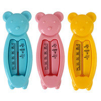 Wholesale fishing bath toys resale online - Baby care Bath Shower Product Water Thermometers Plastic Float Baby Bath Toy Tester Kid Floating Fish colors Wet and dry use