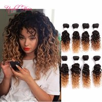 Wholesale hair pieces curly blonde - 8-20inch Blonde Extensions high quality brazilian hair bundles curly malaysian hairhuman hair mongolian ombre body wave hair weaves