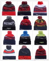Wholesale Dotted Paper - 12 Colors National Football Patriots Beanies Winter 2017 England Beanie For Men Women Skull Caps Skullies Knit Cotton Hats Free Shipping