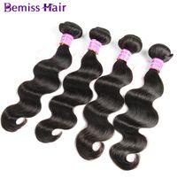 Wholesale top selling human hair extensions for sale - Group buy Top Selling Brazilian Hair Bundles Malaysian Peruvian Indian Virgin Human Hair Weaves Natural Black Natural Body Wave Hair Extensions