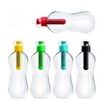 Wholesale Bobble Filter Wholesale - Wholesale- New PE 550ml Water carbon Filter Bobble Bottle Drinking Outdoor Sports Hiking random colour