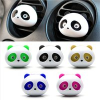 Wholesale Freshener Car - 2pcs car-styling Panda Car Perfumes 100 original 5ml Solid Air Freshener Air Conditioning Vent Flavoring In the Car parfums