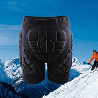 Wholesale Roller Protections - WOLFBIKE Black Short Protective Hip Butt Pad Snowboard Skating Skiing Protection Drop Resistance Roller Padded Shorts 2510029
