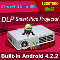 Wholesale beamer 3d shutter for sale - Group buy Android shutter d led mini DLP projector p full hd home theater projetor video lcd proyector portable pico pocket beamer