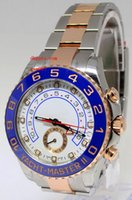 Wholesale mens automatic power reserve watch for sale - Top quality Luxury AAA Wristwatches Blue Ceramic Bezel Rose Golden Perpetual Automatic Mechanical Tone Mens Watch Watches