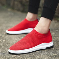 Wholesale Canvas Boat Sneakers - Spring Autumn Breathable Men Casual Sport Shoes Slip on Air Mesh Canvas Sneakers Fashion Trends Lazy Boat Shoes