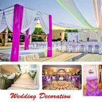 Wholesale Top Table Organza Swag - Wholesale-Free Shipping 28 colors 10M*1.35M Top Table Swags Sheer Organza Fabric Wedding Party Bow Decorations DIY