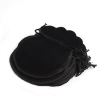 100Pcs Cheap Lovely Thin Velvet Drawstring Jóias Bolsa 70 * 80mm, festa de férias Ano Novo Natal Wedding Gift Pouch Bag