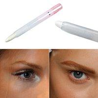 Wholesale Eyeliner Pen White - Wholesale-Glitter Pearl White Eyeliner Glisten Pen Eye Shadow Eyelid Pencil Makeup Tool
