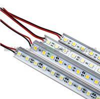Wholesale led for cabinet - LED Bar Light 5050 36LED 0.5M SMD LED Rigid Strip DC12V Hard Strip Aluminum Alloy PCB Led Strip light For Cabinet Jewelry MYY