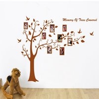 Wholesale Big Wallpaper - 60*90cm Big Tree with Photo Frame Wall Stickers DIY Art Decal Removeable Wallpaper Mural Sticker for Bedroom Living Room JM7194AB