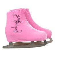 Wholesale Velvet Figure - Wholesale- 24 Colors Child Adult Velvet Ice Skating Figure Skating Shoes Cover Roller Skate Fabric Accessories White Skater Rhinestone